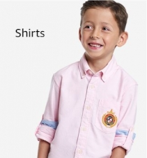 Boys Cream-Coloured & White Regular Fit Checked Casual Shirt